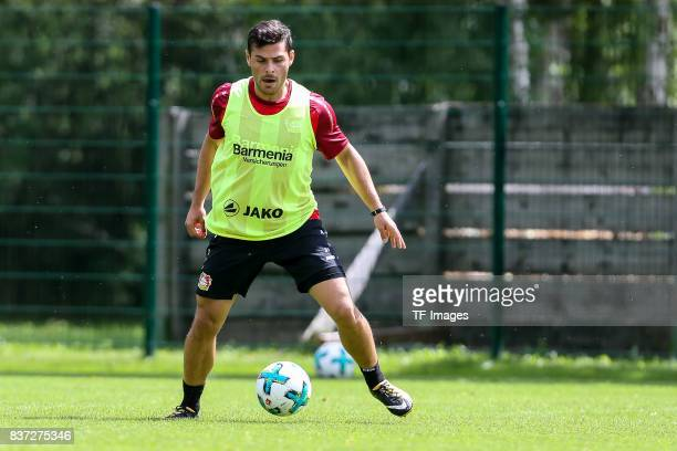 Kevin Volland of Bayer 04 Leverkusen controls the ball during the Training Camp of Bayer 04 Leverkusen on July 25 2017 in Zell am Ziller Austria