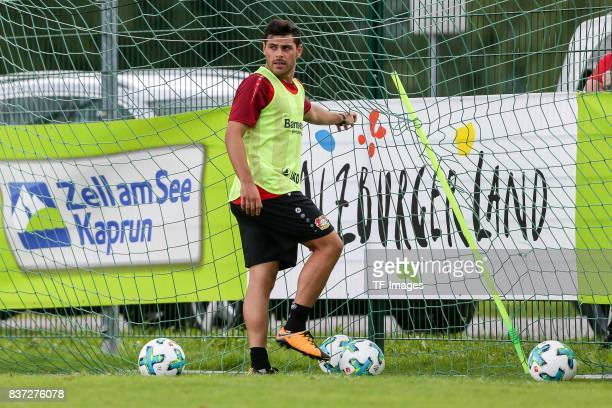 Kevin Volland of Bayer 04 Leverkusen looks on during the Training Camp of Bayer 04 Leverkusen on July 25 2017 in Zell am Ziller Austria