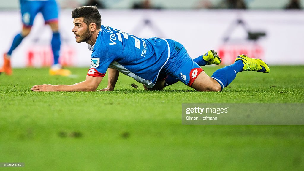 <a gi-track='captionPersonalityLinkClicked' href=/galleries/search?phrase=Kevin+Volland&family=editorial&specificpeople=6001755 ng-click='$event.stopPropagation()'>Kevin Volland</a> of Hoffenheim reacts during the Bundesliga match between 1899 Hoffenheim and SV Darmstadt 98 at Wirsol Rhein-Neckar-Arena on February 7, 2016 in Sinsheim, Germany.