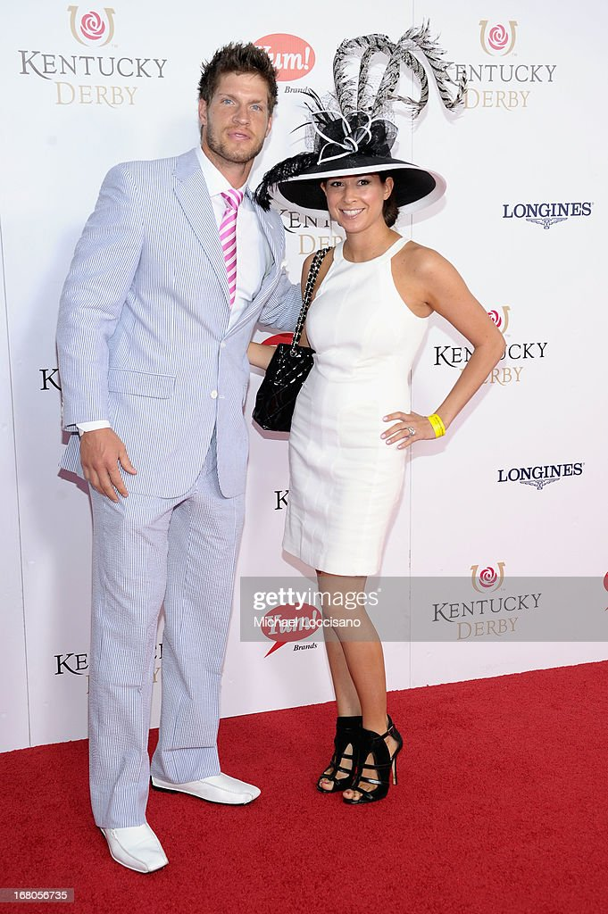 Kevin Walters and guest attend the 139th Kentucky Derby at Churchill Downs on May 4, 2013 in Louisville, Kentucky.