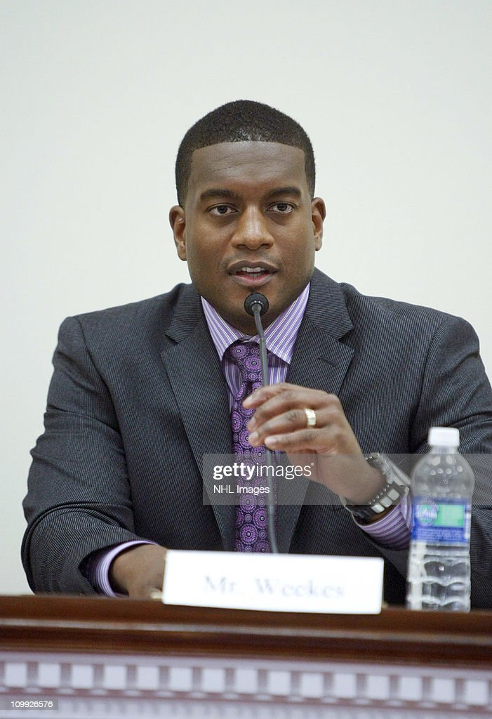 Kevin Weeks attends the Congressional Hockey Caucus Briefing at the Rayburn House Office Building on March 10, 2011 in Washington, DC.