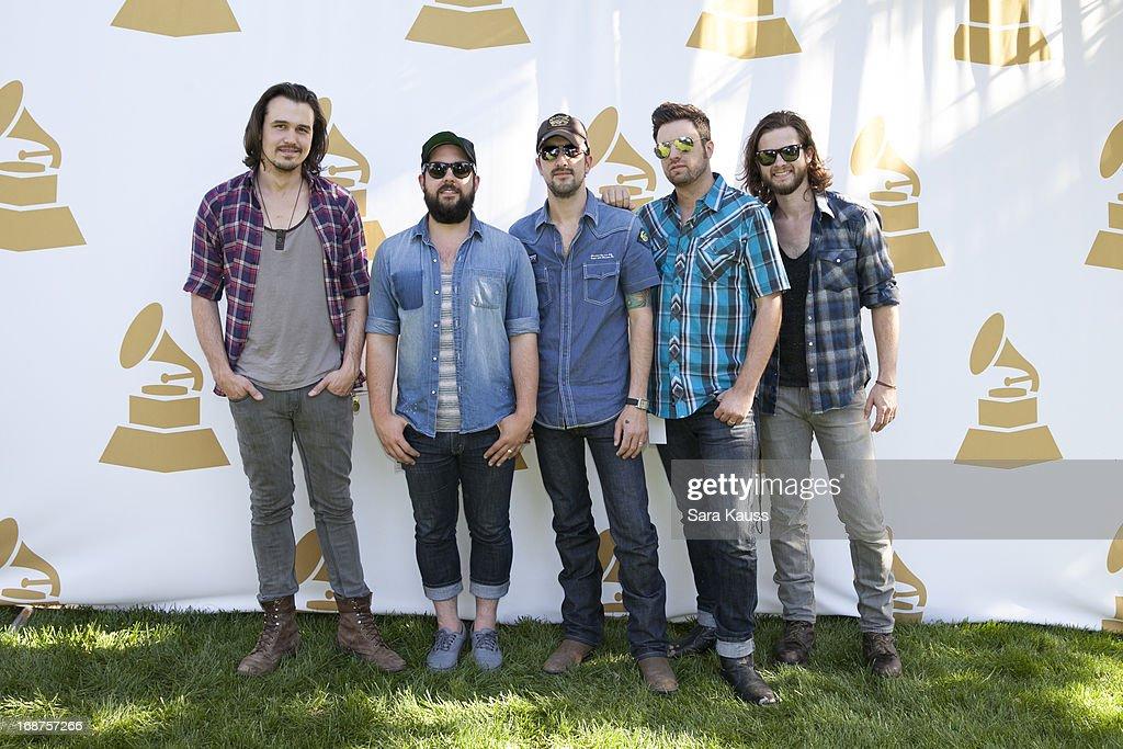 Kevin Whitsett Kenny Davis Rhett Walker Mo Thieman and Joe Kane attend the GRAMMY Block Party at Owen Bradley Park on May 14 2013 in Nashville...