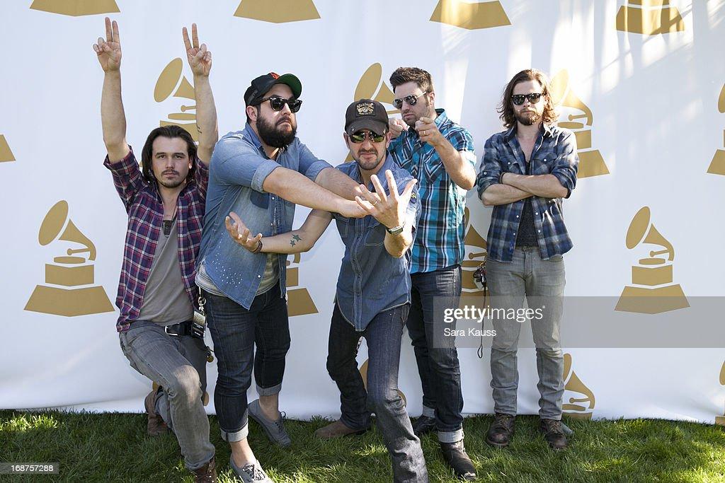 Kevin Whitsett, Kenny Davis, Rhett Walker, Mo Thieman and Joe Kane attend the GRAMMY Block Party at Owen Bradley Park on May 14, 2013 in Nashville, Tennessee.