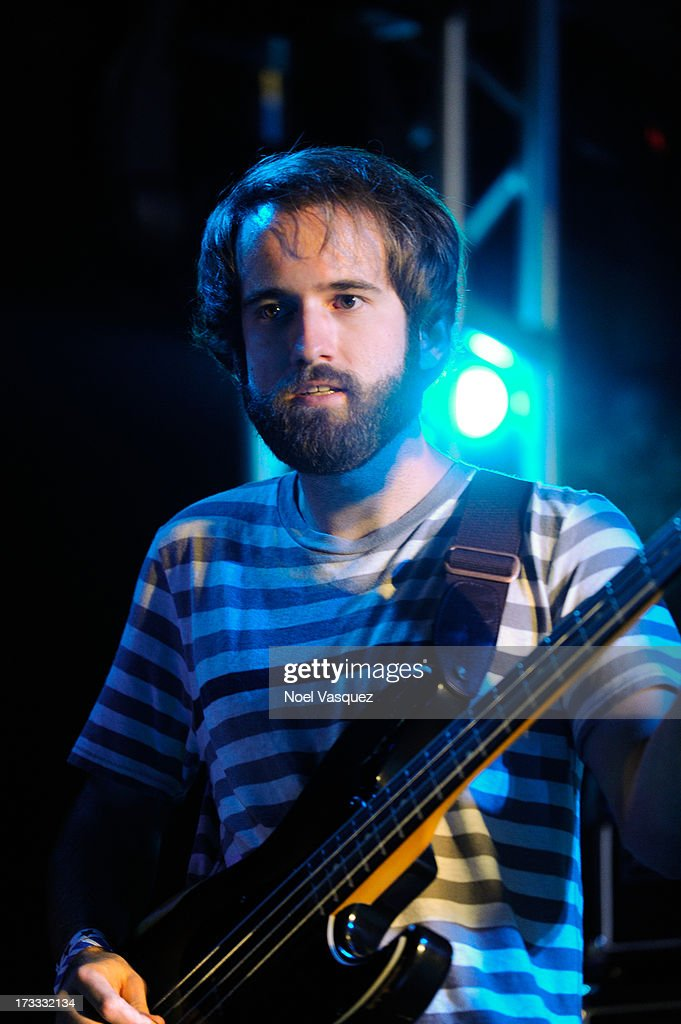 <a gi-track='captionPersonalityLinkClicked' href=/galleries/search?phrase=Kevin+Williams+-+Musician&family=editorial&specificpeople=12341945 ng-click='$event.stopPropagation()'>Kevin Williams</a> of Surfer Blood performs at KCRW's Twilight Concert Series on July 11, 2013 in Santa Monica, California.