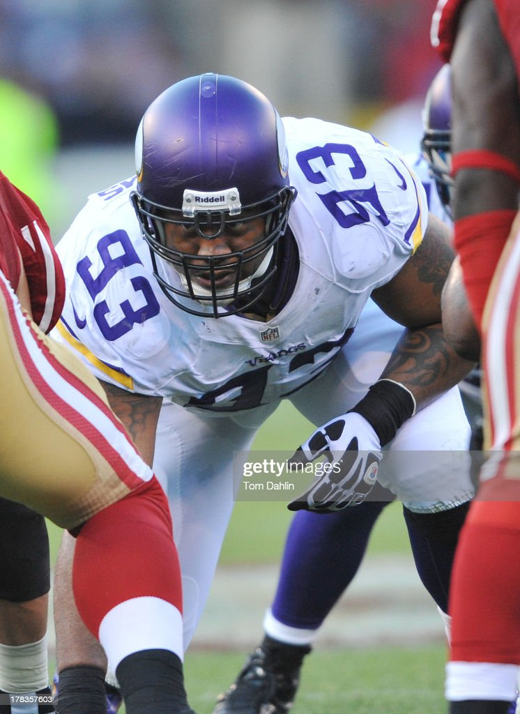 Kevin Williams #93 of the Minnesota Vikings lines up during an NFL game against the San Francisco 49ers, August 25, 2013, at Candlestick Park in San Francisco, California.