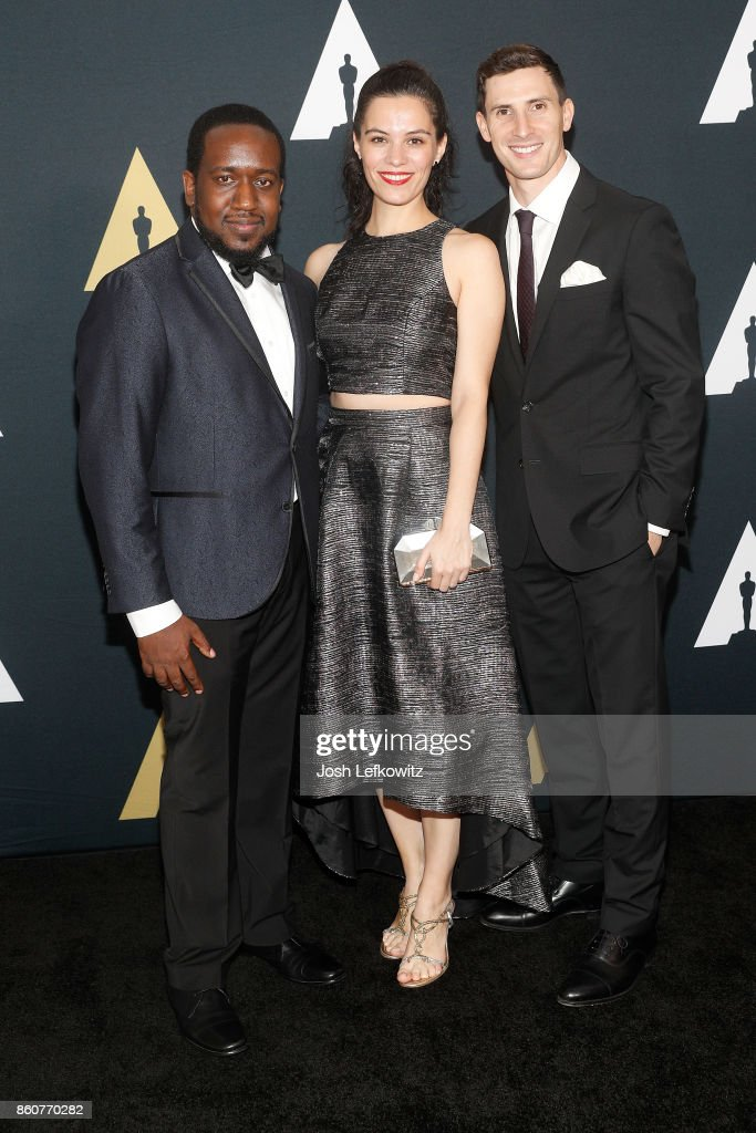 Kevin Wilson, Jr., Marie Dvorakova, and Ariel Heller attend the Academy of Motion Picture Arts And Sciences 44th Student Academy Awards at Samuel Goldwyn Theater on October 12, 2017 in Beverly Hills, California.