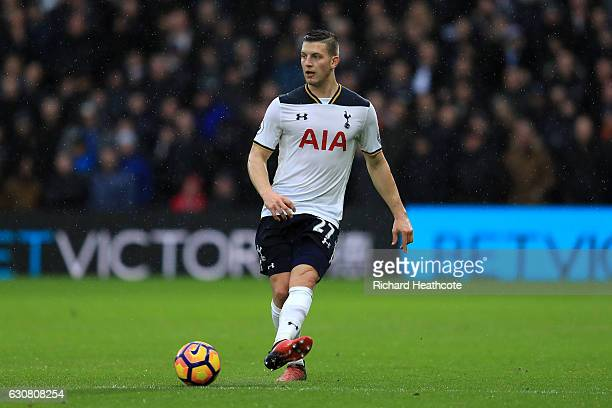Kevin Wimmer of Spurs in action during the Premier League match between Watford and Tottenham Hotspur at Vicarage Road on January 1 2017 in Watford...