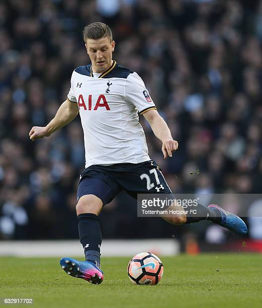 Kevin Wimmer of Tottenham during the Emirates FA Cup Fourth Round match between Tottenham Hotspur and Wycombe Wanderers at White Hart Lane on January...