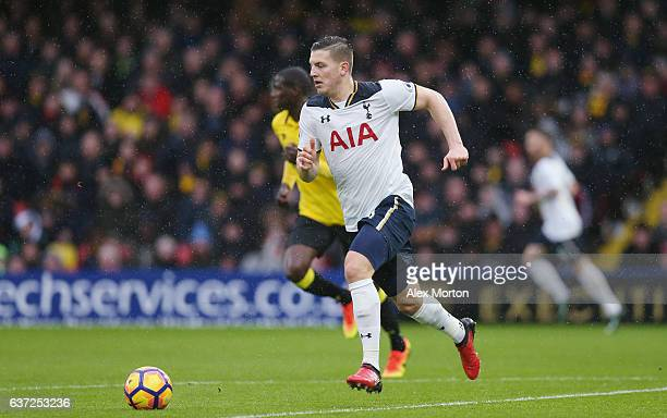 Kevin Wimmer of Tottenham during the Premier League match between Watford and Tottenham Hotspur at Vicarage Road on January 1 2017 in Watford England