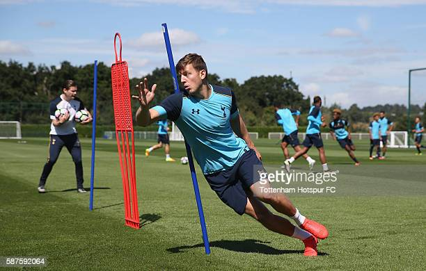 Kevin Wimmer of Tottenham during the Tottenham Hotspur training session on August 9 2016 in Enfield England