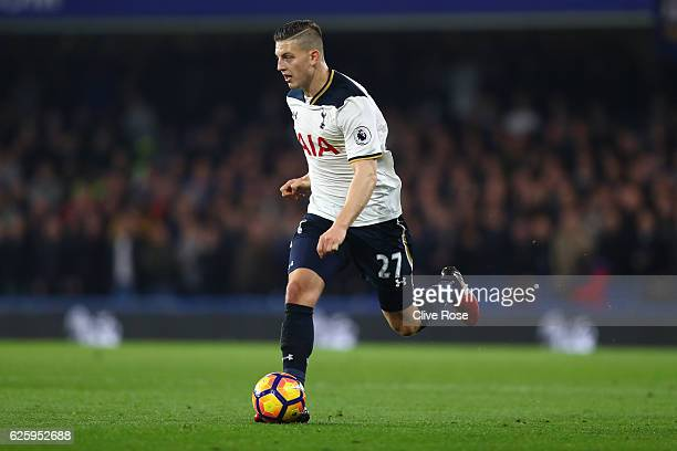 Kevin Wimmer of Tottenham Hotspur in action during the Premier League match between Chelsea and Tottenham Hotspur at Stamford Bridge on November 26...