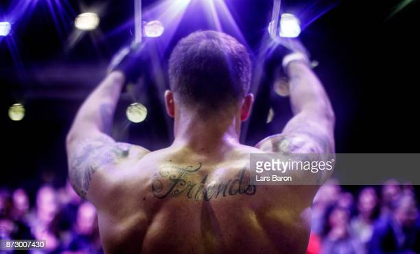 Kevin Winkens of CrossFit Vitus in action during day one of the German Throwdown 2017 at Halle 45 on November 11 2017 in Mainz Germany