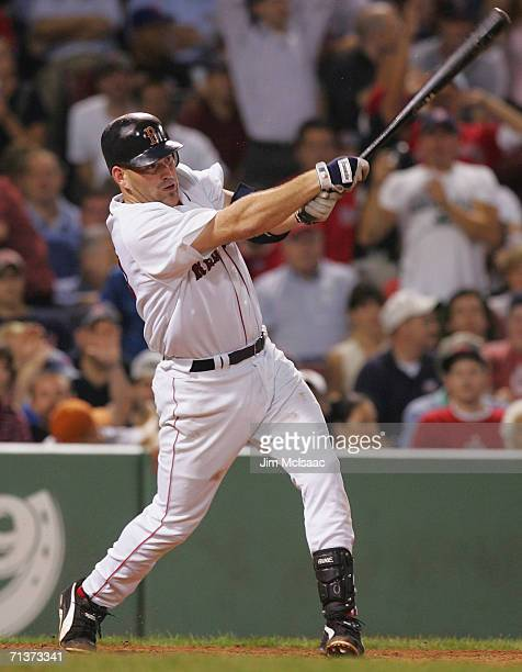 Kevin Youkilis of the Boston Red Sox bats against the New York Mets on June 28 2006 at Fenway Park in Boston Massachusetts