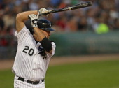 Kevin Youkilis of the Chicago White Sox bats against the New York Yankees at US Cellular Field on August 21 2012 in Chicago Illinois The White Sox...
