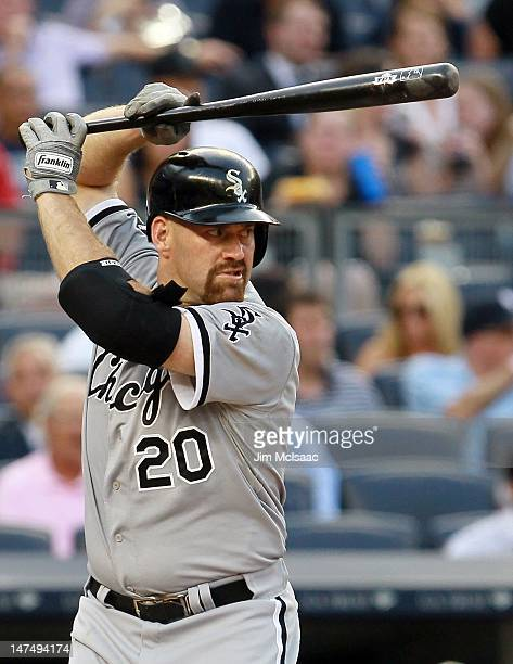 Kevin Youkilis of the Chicago White Sox in action against the New York Yankees at Yankee Stadium on June 28 2012 in the Bronx borough of New York...