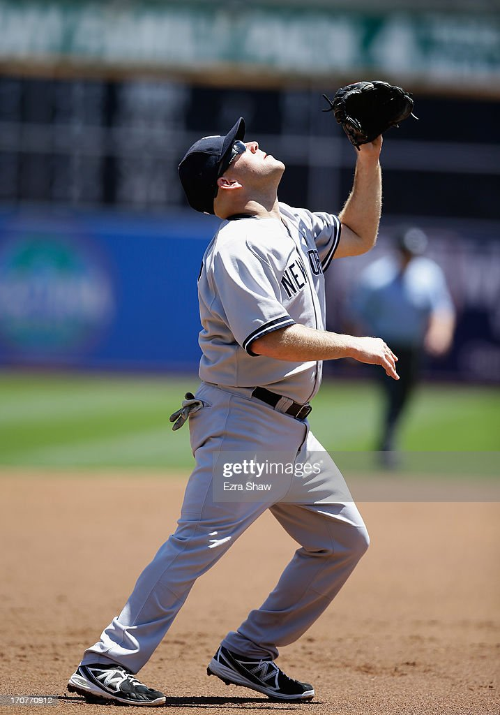 <a gi-track='captionPersonalityLinkClicked' href=/galleries/search?phrase=Kevin+Youkilis&family=editorial&specificpeople=206888 ng-click='$event.stopPropagation()'>Kevin Youkilis</a> #36 of the New York Yankees in action against the Oakland Athletics at O.co Coliseum on June 13, 2013 in Oakland, California.