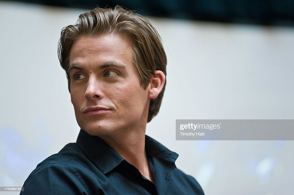 <a gi-track='captionPersonalityLinkClicked' href=/galleries/search?phrase=Kevin+Zegers&family=editorial&specificpeople=622283 ng-click='$event.stopPropagation()'>Kevin Zegers</a> attends a Q&A and autograph session for fans in anticipation of Screen Gems' action-fantasy
