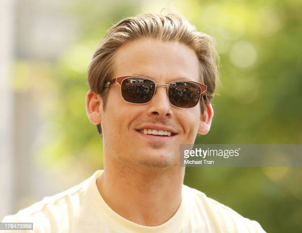Kevin Zegers attends 'The Mortal Instruments City Of Bones' event held at The Americana at Brand on August 13 2013 in Glendale California
