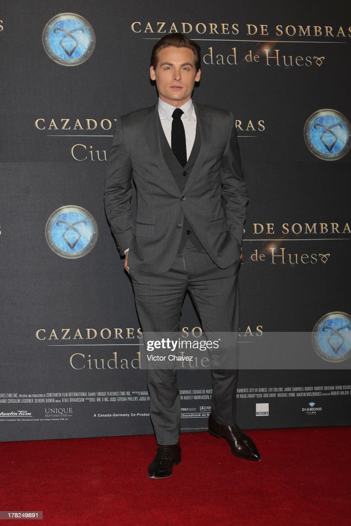 Kevin Zegers attends The Mortal Instruments: City of Bones' Mexico City screening at Auditorio Nacional on August 27, 2013 in Mexico City, Mexico.