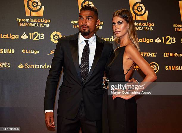 KevinPrince Boateng and Melissa Satta attend the LFP Soccer Awards Gala 2016 at Palacio de Congresos on October 24 2016 in Valencia Spain