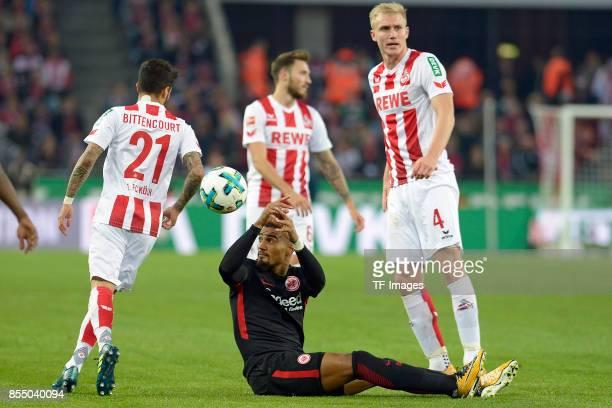 KevinPrince Boateng of Frankfurt and on the ground during the Bundesliga match between 1 FC Koeln and Eintracht Frankfurt at RheinEnergieStadion on...