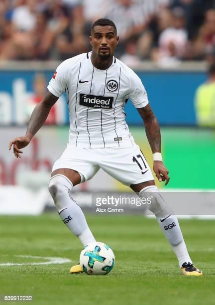 KevinPrince Boateng of Frankfurt controles the ball during the Bundesliga match between Eintracht Frankfurt and VfL Wolfsburg at CommerzbankArena on...