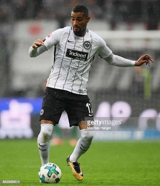KevinPrince Boateng of Frankfurt controls the ball during the Bundesliga match between Eintracht Frankfurt and VfB Stuttgart at CommerzbankArena on...