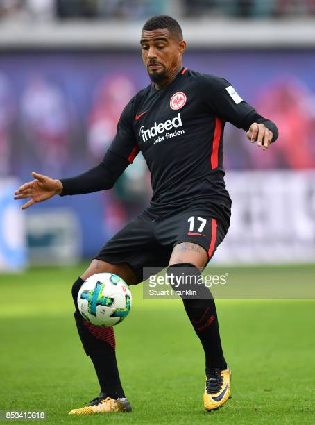 KevinPrince Boateng of Frankfurt in action during the Bundesliga match between RB Leipzig and Eintracht Frankfurt at Red Bull Arena on September 23...