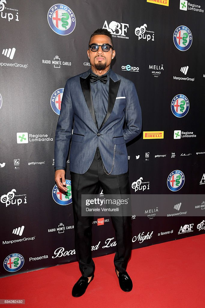 <a gi-track='captionPersonalityLinkClicked' href=/galleries/search?phrase=Kevin-Prince+Boateng&family=editorial&specificpeople=613049 ng-click='$event.stopPropagation()'>Kevin-Prince Boateng</a> walks the red carpet of Bocelli and Zanetti Night on May 25, 2016 in Rho, Italy.