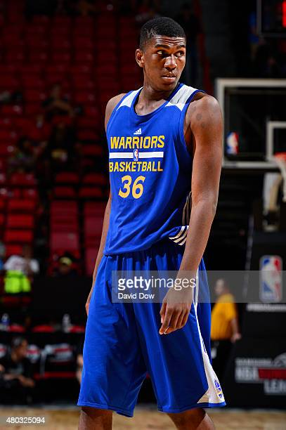 Kevon Looney of the Golden State Warriors during NBA Summer League against the Cleveland Cavaliers on July 10 2012 at the Cox Pavilion in Las Vegas...