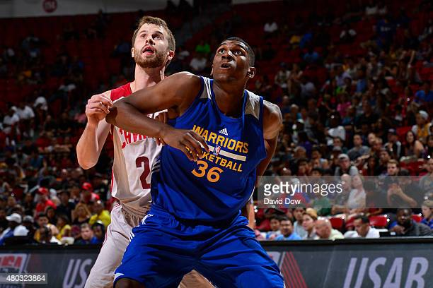 Kevon Looney of the Golden State Warriors looks for the rebound against the Cleveland Cavaliers during NBA Summer League on July 10 2012 at the Cox...