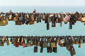 key a lot Hanging on the bridge the lock represent forever love