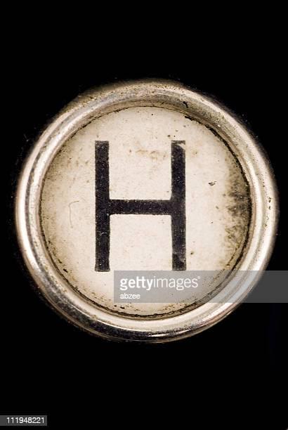 H key eine vollständige alphabet von grungey Schreibmaschine