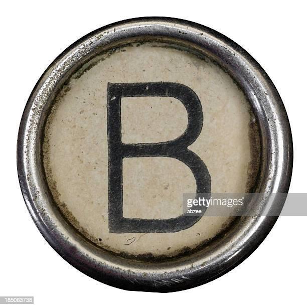 B clé d'une lettre de l'alphabet de grungey machine à écrire