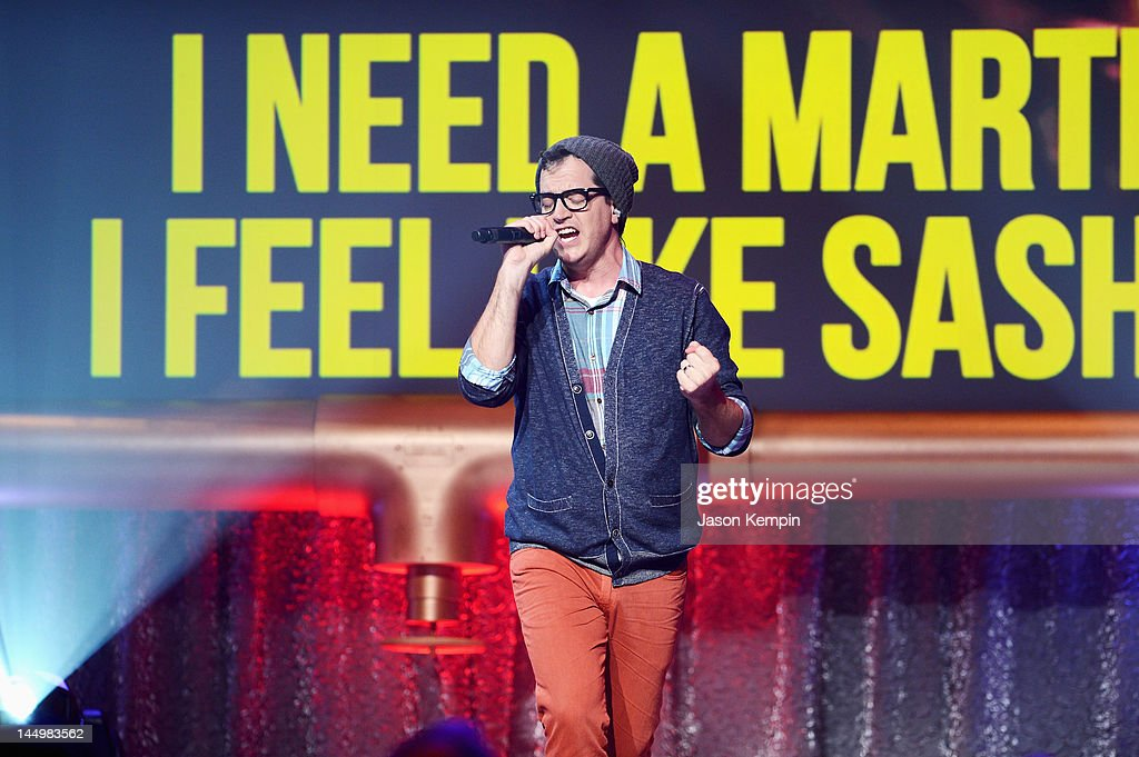 Key of Awesome performs at the 16th Annual Webby Awards on May 21, 2012 in New York City.