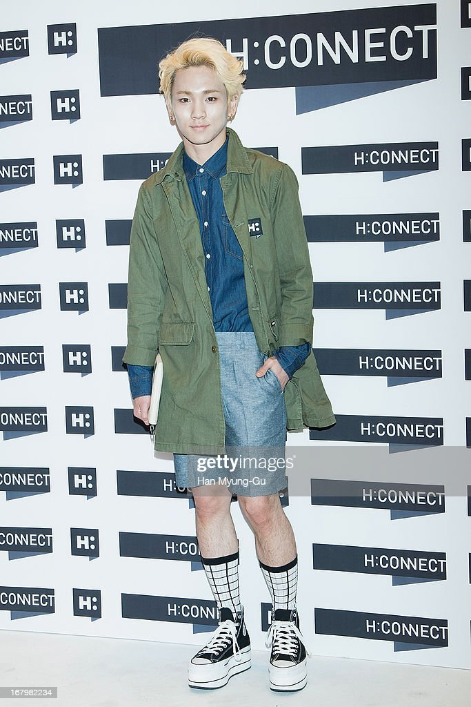 <a gi-track='captionPersonalityLinkClicked' href=/galleries/search?phrase=Key+-+Korean+Singer&family=editorial&specificpeople=12538635 ng-click='$event.stopPropagation()'>Key</a> of South Korean boy band SHINee attends a promotional event for the 'H:Connect' Gangnam Flagship Store Opening on May 3, 2013 in Seoul, South Korea.