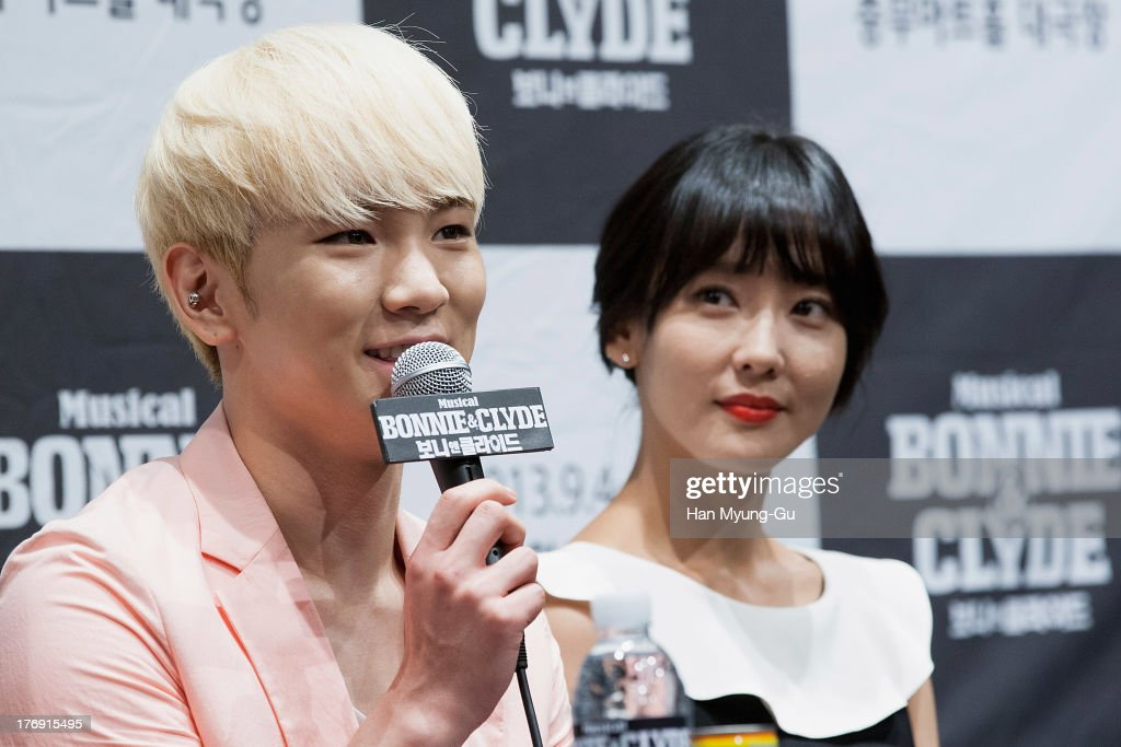 <a gi-track='captionPersonalityLinkClicked' href=/galleries/search?phrase=Key+-+Korean+Singer&family=editorial&specificpeople=12538635 ng-click='$event.stopPropagation()'>Key</a> of South Korean boy band SHINee attends the press conference for musical 'Bonnie and Clyde' at M-Cube in Seoul on August 19, 2013 in Seoul, South Korea. The musical will open on September 04, in South Korea.