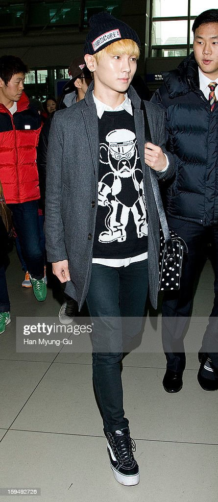 Key of South Korean boy band SHINee is seen at Incheon International Airport on January 13, 2013 in Incheon, South Korea.