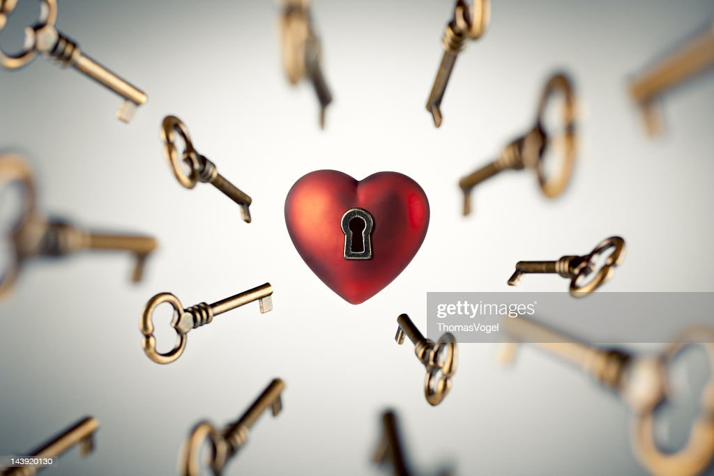 Key to your Heart : Stock Photo