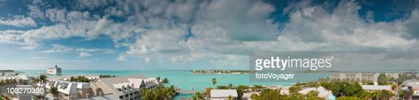 Key West tropical skies turquoise ocean panorama Florida USA