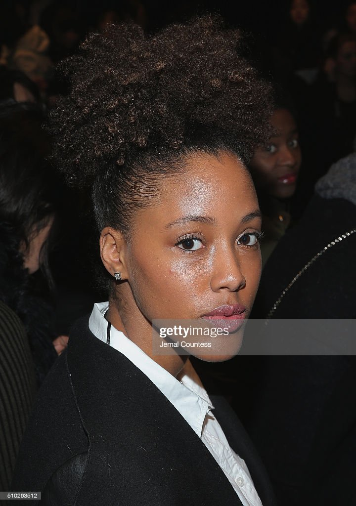 Keyanna Spann attends the Asia Fashion Collection Fall / Winter 2016 - Front Row at Pier 59 Studios on February 14, 2016 in New York City.