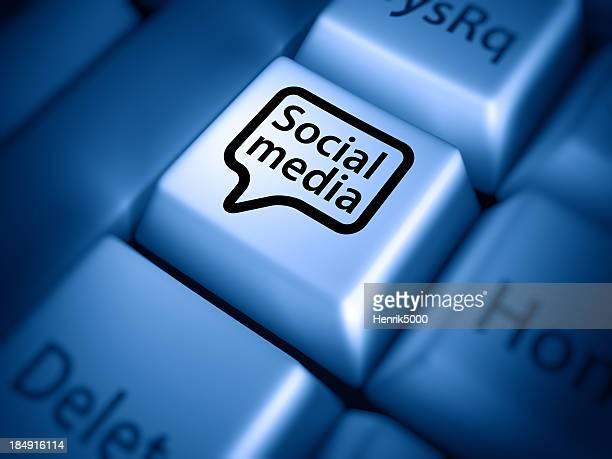 Keyboard closeup: social media