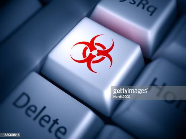 Keyboard closeup: virus alert!