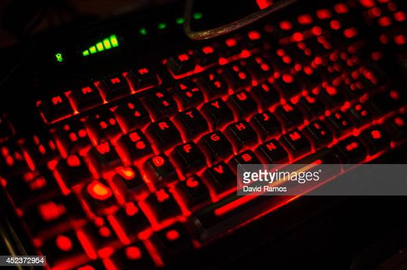 A keyboard is seen during the DreamHack Valencia 2014 on July 18 2014 in Valencia Spain Dreamhack Valencia is one of the European stops from the...