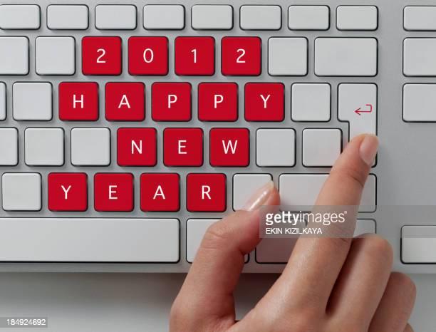 Tastiera, felice anno nuovo messaggio