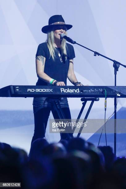 Keyboard player of the band Johnny Hates Jazz performs at the GreenTec Awards Show at ewerk on May 12 2017 in Berlin Germany