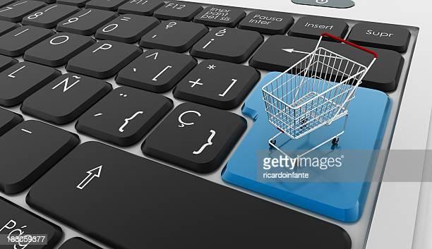 Tastatur mit Einkaufswagen