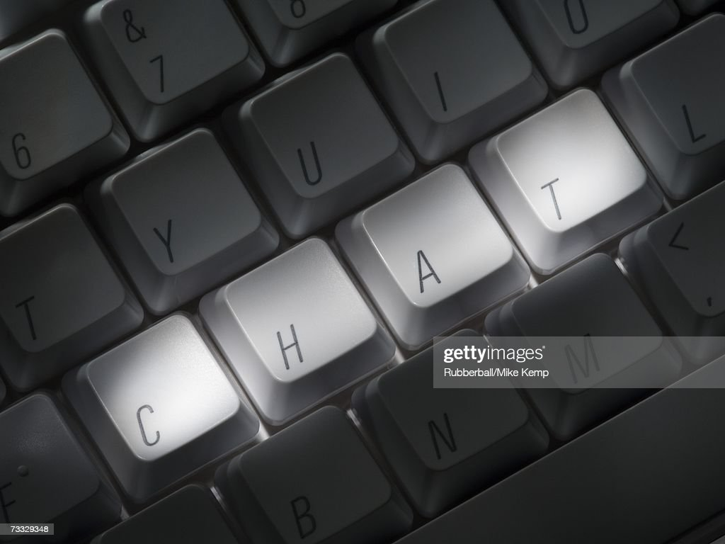 Keyboard with CHAT highlighted : Stock Photo