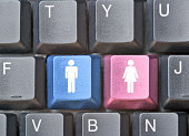 Keyboard with hot keys for man and woman