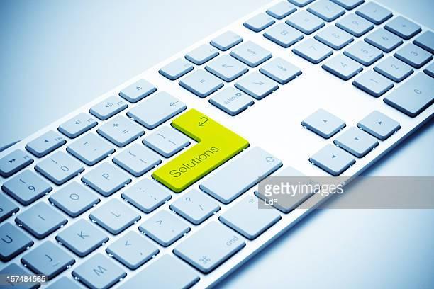 Tastatur mit gelben Lösungen key